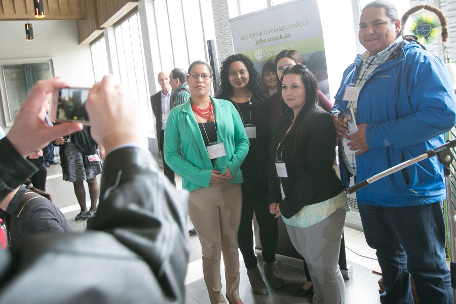 Students from the first ACS cohort attend the program's launch on April 6. ACS is designed to serve as a stepping stone to a long-term career at the U of S (David Stobbe photo).