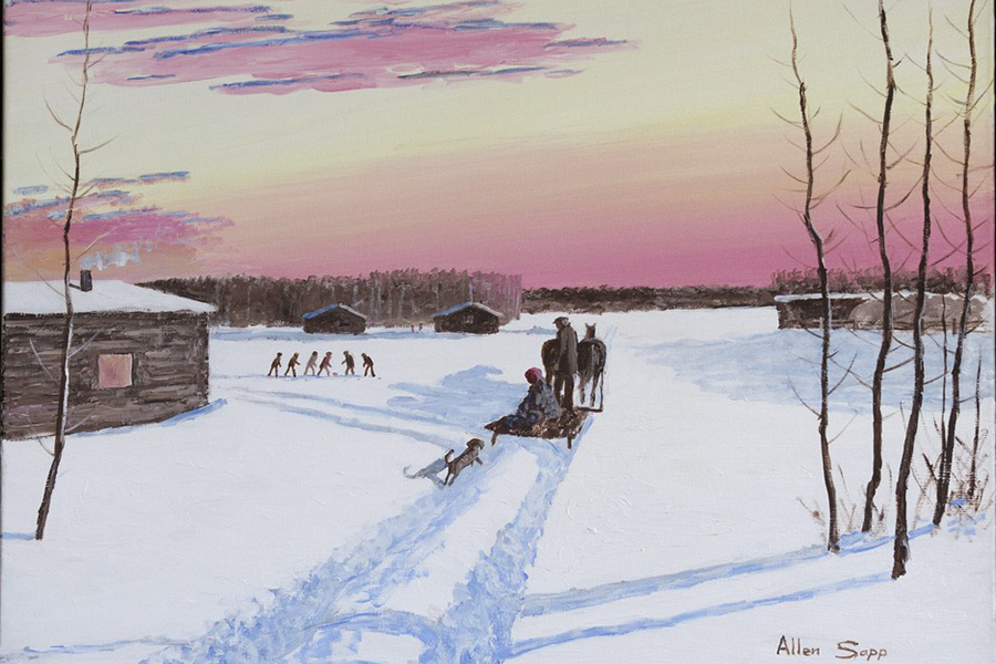 Sleigh Ride Home by Allen Sapp