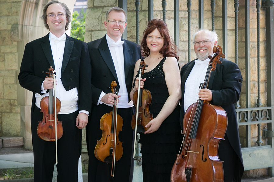 The U of S Amati Quartet (from left: Rudolf Sternadel, Geoff Cole, Marla Cole and Terence Sturge).