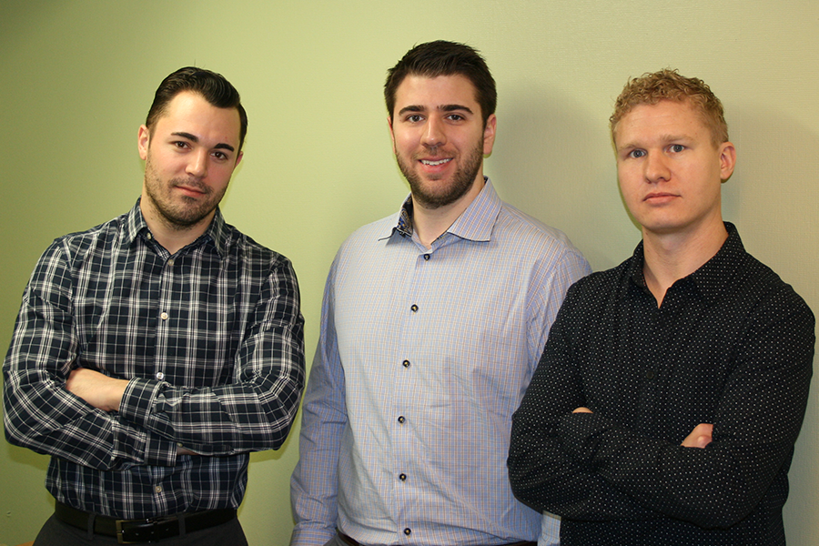 Cameron Klein, Andrew Campbell and Scott Hitchings are the co-directors of Campus Legal Services.