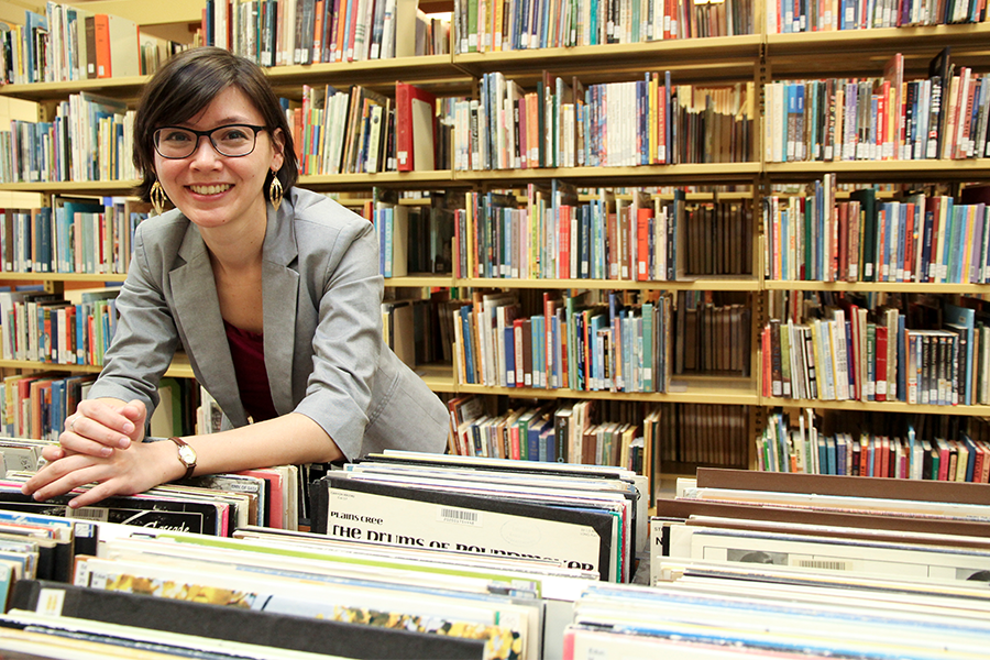Carolyn Doi, music librarian in the Education Library.