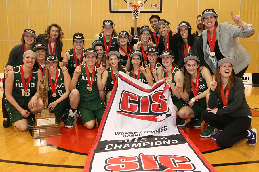 The U of S Huskies women's basketball team defeated the Ryerson University Rams to win their first ever CIS championship.