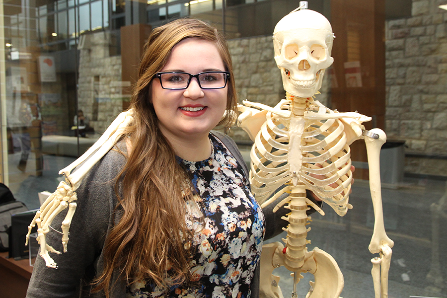 Jessica Landrie, one of the student organizers of the Health Care Team Challenge.