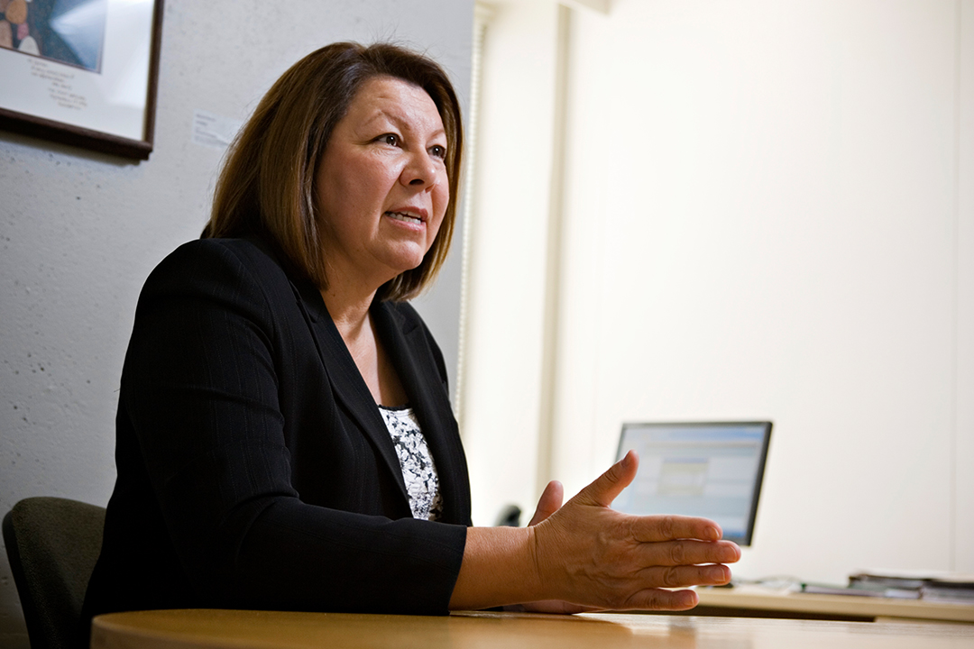 Joan Greyeyes, director of First Nations and Métis relations at the U of S