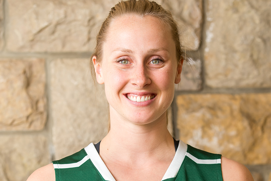 Laura Dally, sociology student and all-star member of the Huskies women's basketball team.