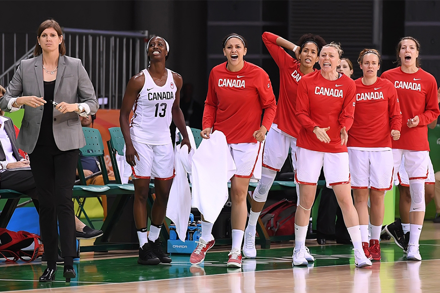 Lisa Thomaidis (left) led Canada into the quarter-finals at the Rio Olympic Games. (Photo courtesy of FIBA).