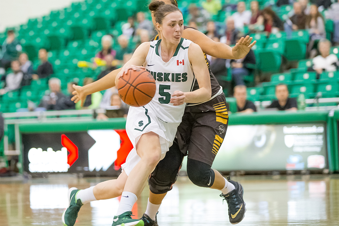 Point guard Sabine Dukate is the newest member of the Huskie women's basketball team.