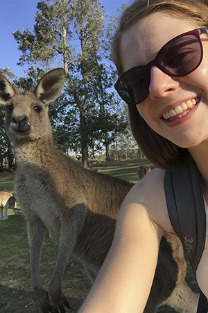An encounter with a local during her first week in Australia.