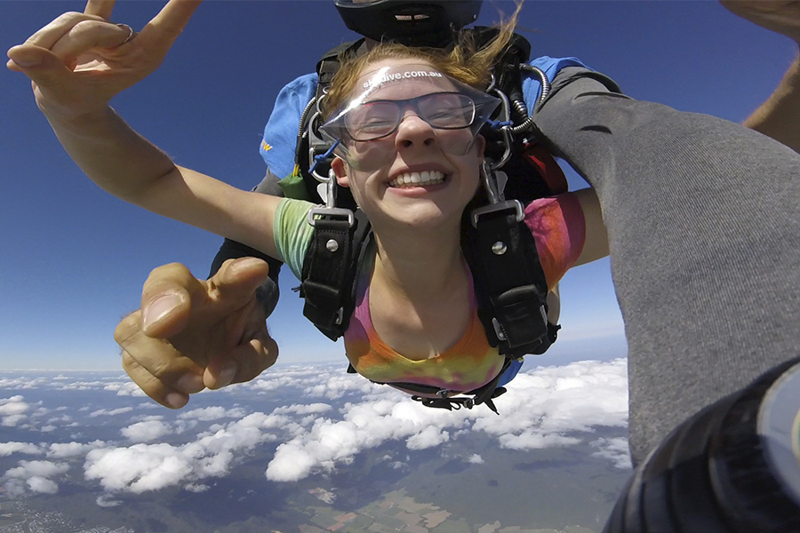 Skydiving above Cairns.