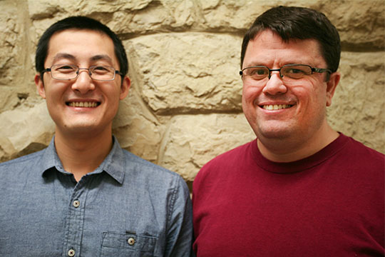 Mark Eramian (right) and his research student, Jianning Chi.