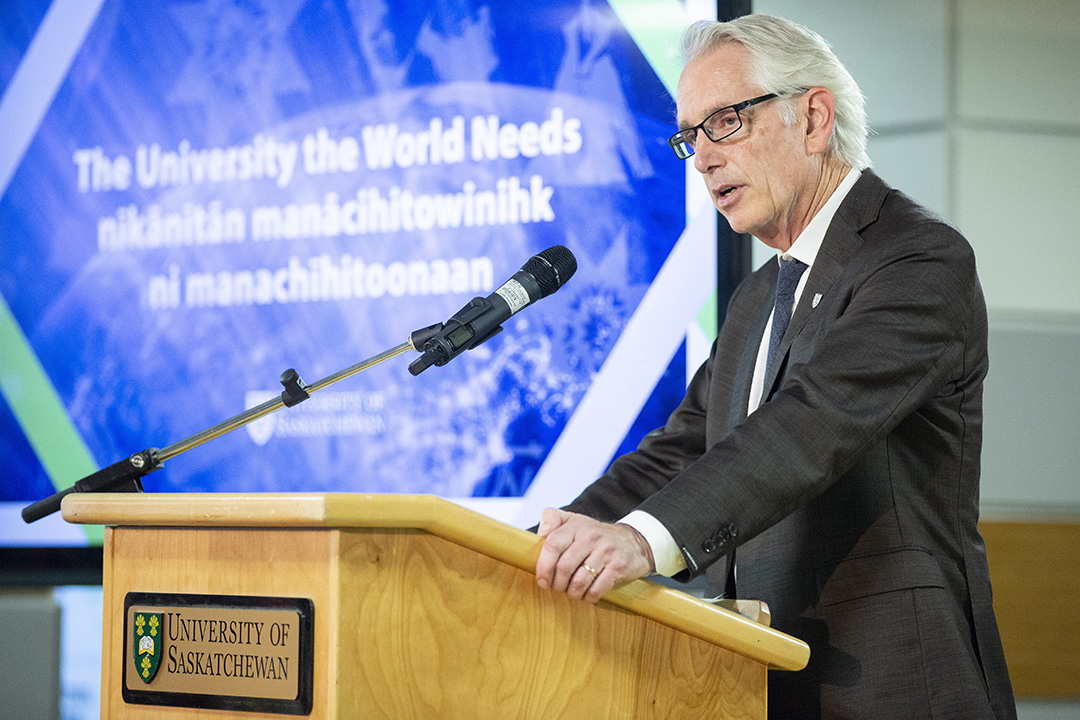 President Stoicheff focused on the future of USask